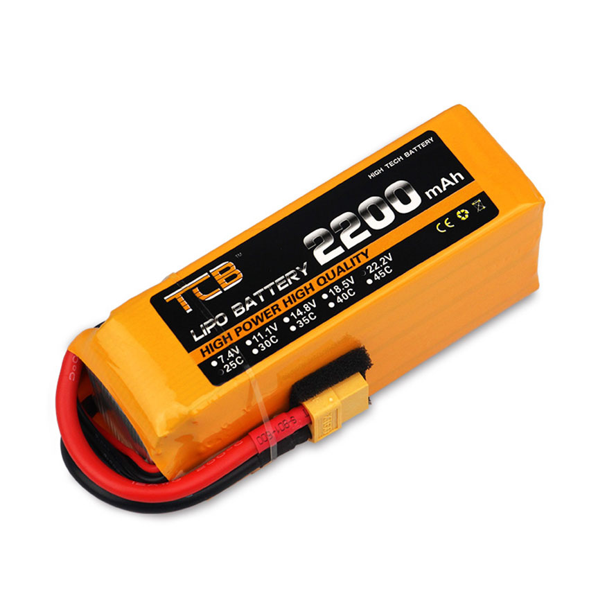 22.2V <font><b>6S</b></font> <font><b>2200mAh</b></font> 25C <font><b>LiPo</b></font> Battery Burst 40C T plug /XT60 plug LiPolymer RC model Lipolymer power pack image