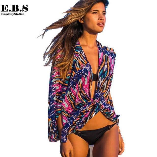 Hot Sale fashion women beach cover sexy ladies print swimwear cardigan beach shirt bikini cover beachwear,summer beach tunic