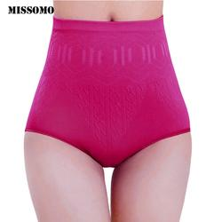 MISSOMO Нижнее белье женские трусики Высокая Пояс тела облегающее нижнее белье трусы, закрывающие живот трусики управления белье для