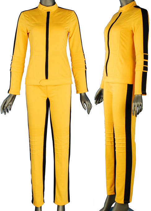 Kill Bill the Bride Yellow Suit Outfit Jacket Halloween Cosplay Costume Women Girls Adults
