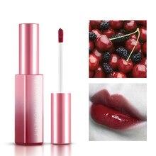Сексуальная Увлажняющий цвет красного вина темная ягода блеск для губ длительный водостойкий оттеночный блеск для губ приукрасить Блестящий про