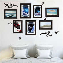 2019NEW DIY Picture Frame Removable Wall Decal Family Home Sticker Home Decor Living Room Baby Mirror Acrylic Sticker 19apr30(China)