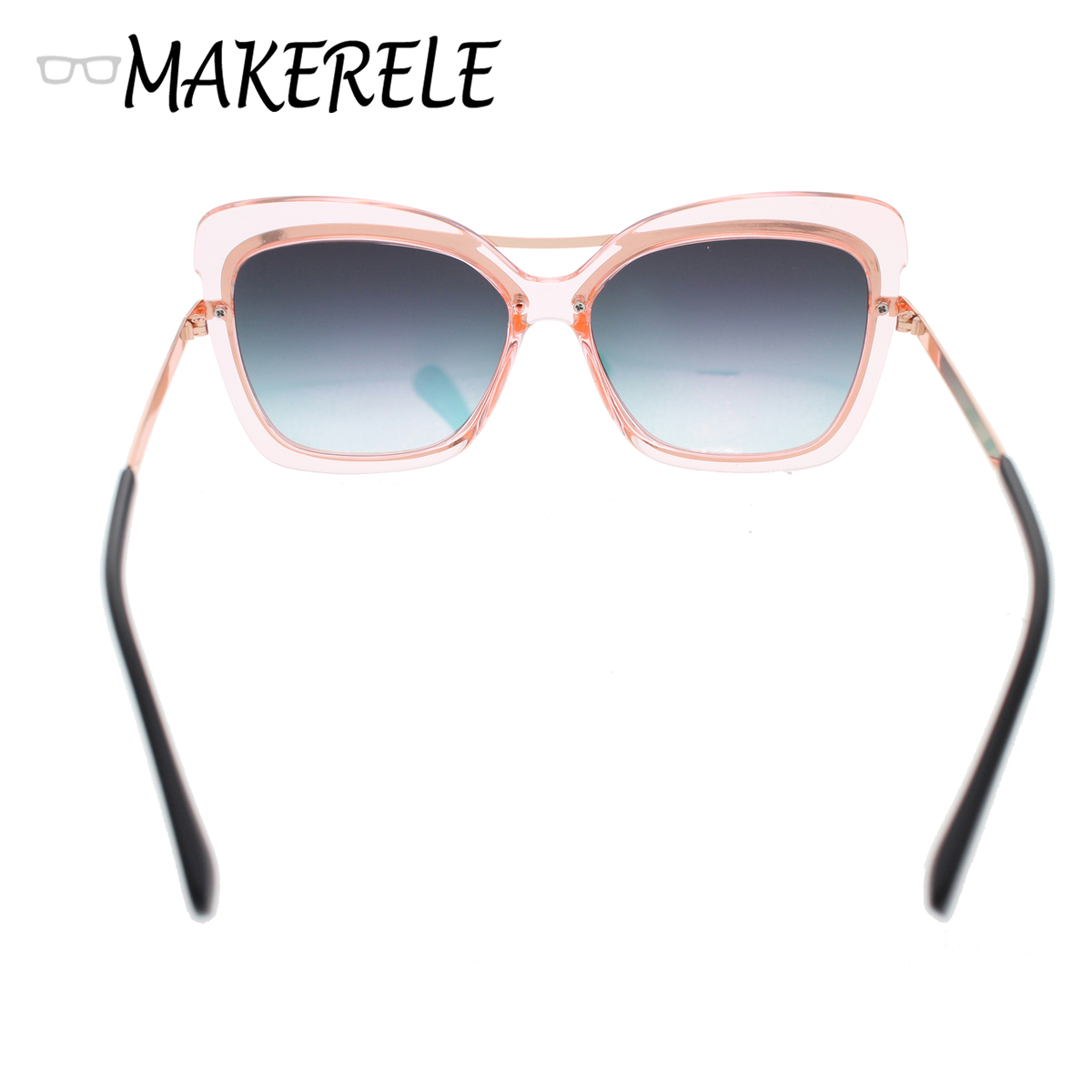 23e659424318b7 Paars oceaan roze transparant womens zonnebril kat bril grote frame Classic  retro oculos de sol van zonnebril online in Paars oceaan roze transparant  womens ...