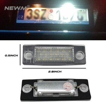 1 pair Nuovo 18 LED License Luce Targa Della Lampada Per VW T5 Caddy per Golf Passat Touran Jetta Skoda Super White 12 V