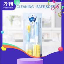 6pcs/set  Baby Bottle Nipple Brush Glass Milk Bottle Cleaning sponge plastic bottle Brushes Cleaner Pacifier Brush недорого