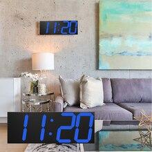 2019 New Luminous Wall Clocks Large Clock watch Horloge 3D DIY Acrylic Mirror Stickers  Duvar Saat Klock Modern mute