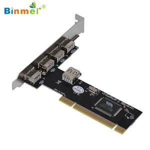 Binmer Card-Adapter HUB 4 480mbps 4-Port 15 Usb-2.0 Controller PCI Sep High-Speed VIA