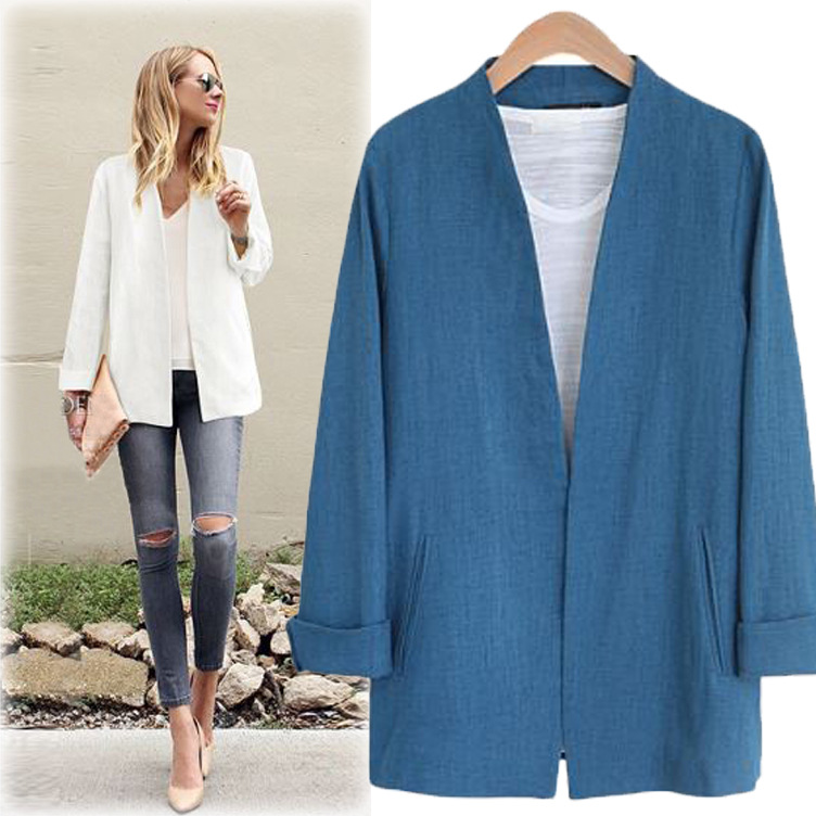 2018 New Spring V-neck Long-sleeved Suit Jacket Women Slim Cardigan Womens Fashion Small ...