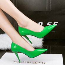 Rose chaussures de gelée pompes robe chaussures de mariage Bout Pointu haute talons violet pompes femmes talons mariée chaussures parti vert pompes D988