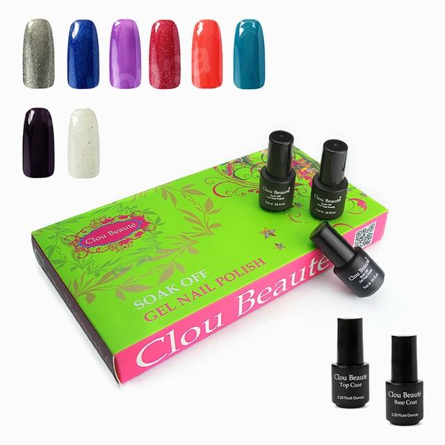Custom Design 7ml Clou Beaute 299 Colors (SONP024+Top Base Coat) Gel Nails Lamp Led Nails Soak Off Led Gel Polish