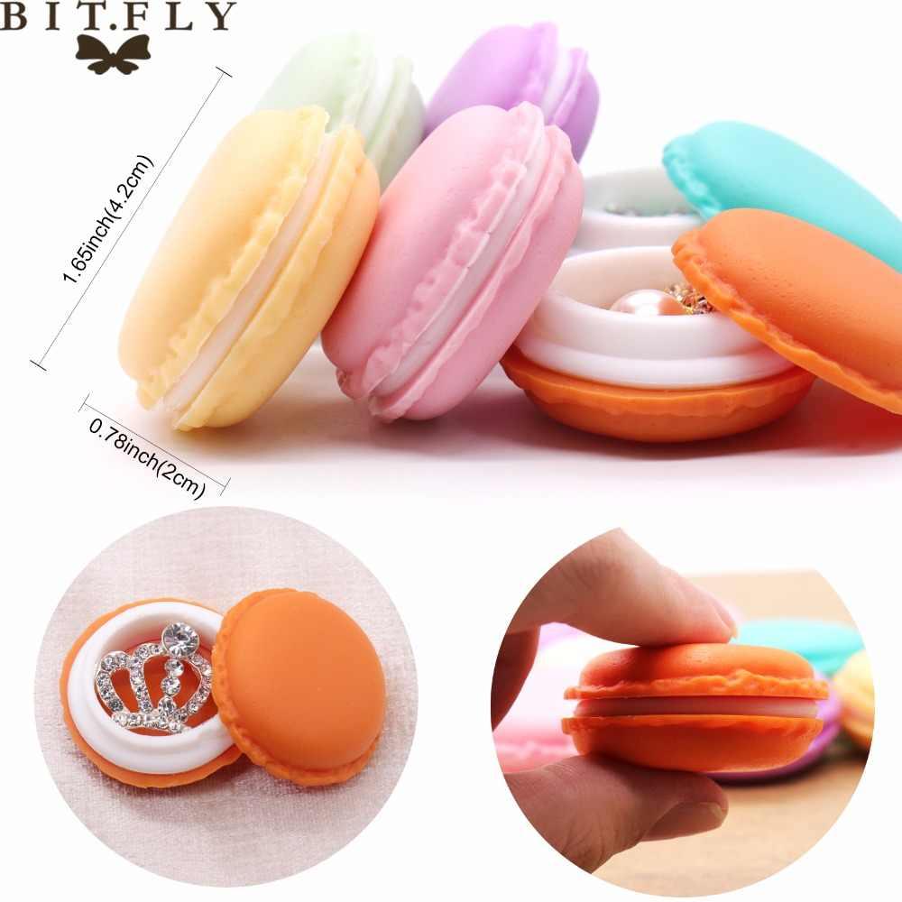 แบบพกพาลูกอมสี Mini Macarons กล่องเก็บเครื่องประดับน่ารักของขวัญแพคเกจ Pill กระเป๋าถือชุดหูฟังกล่องป้องกัน