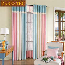 High-grade original design European-style Cotton Linen splicing curtains for Living Room Window Curtain Bedroom Custom Made