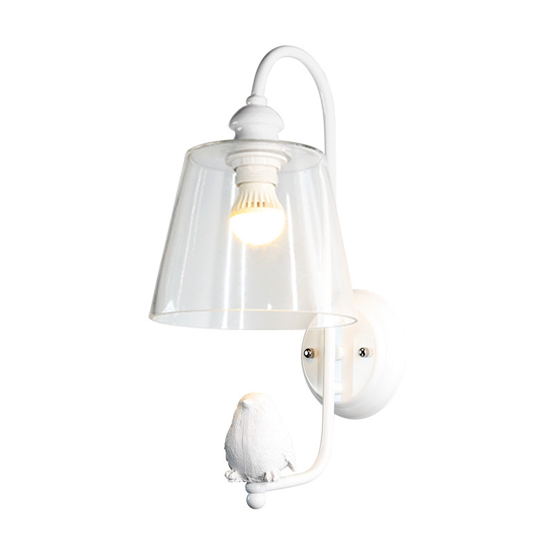 Cute E27 LED Resin Bird Modern Simple Clear Wall Lamp Minimalist Toughened Glass Bedroom Corridor Stair Loft Light LightingCute E27 LED Resin Bird Modern Simple Clear Wall Lamp Minimalist Toughened Glass Bedroom Corridor Stair Loft Light Lighting