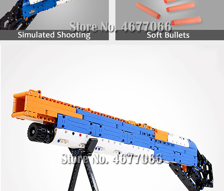 Legoed gun model building blocks p90 toy gun toy brick ak47 toy gun weapon legoed technic bricks lepin gun toys for boy 157