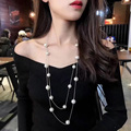 RAVIMOUR 2017 Imitation Pearl Jewelry Long Necklaces & Pendants For Women Fashion Multilayer Collar Mujer Statement Perlas Kolye