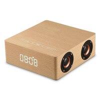 Shinco Q5 Wooden Bluetooth Speaker Clock Alarm Sound Home High Power Four Speaker Subwoofer Bluetooth Speaker