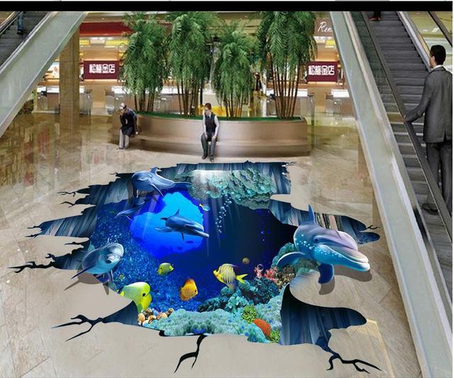 3d Fußboden Meer ~ D boden malerei tapete meer welt außen d dreidimensionale