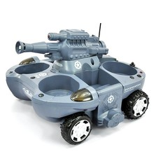 Rc tank 24883 boy toys 4CH large fire BB bullets shooting land and water amphibious remote control toys tank rc car Gift for Kid