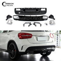 Rear Bumpers For Mercedes GLA Class X156 4 Outlet Exhaust Tips AMG Polypropylene Diffuser