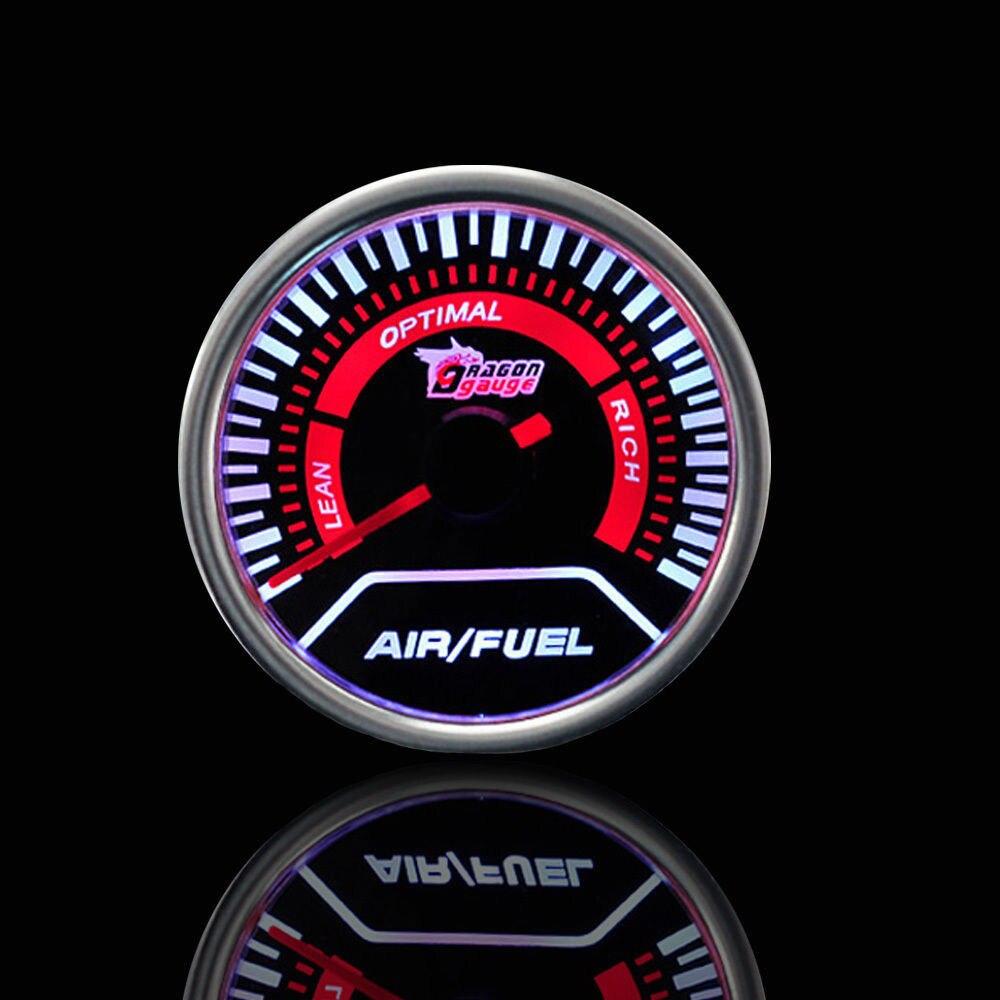 Наддув/вакуум/Температура воды/Температура масла/Масляный Пресс/Напряжение/Тахометр/соотношение воздушного топлива/EGT датчик+ манометр стручки 52 мм Аналоговый светодиодный белый корпус - Цвет: AIR FUEL RATIO