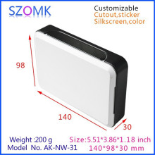 one piece szomk plastic Electronics abs plastic connector shell enclosure housing router network connector case 140*98*30mm