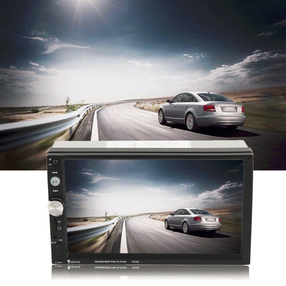 7023D 7 pouces 2 Din autoradio MP5 lecteur HD écran tactile avec téléphone numérique Radio stéréo FM/MP3/MP4/Audio/vidéo/USB Auto dans Dash