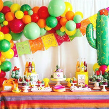 Mexican Alpaca Cactus Banner LLama Birthday Party Decoration Festival Flags Event Supplies