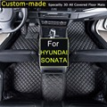 For Hyundai Sonata 5/6/7/8/9 Car floor Mats Custom Carpets Car Styling Foot Rugs Customized Specially for Hyundai Sonata