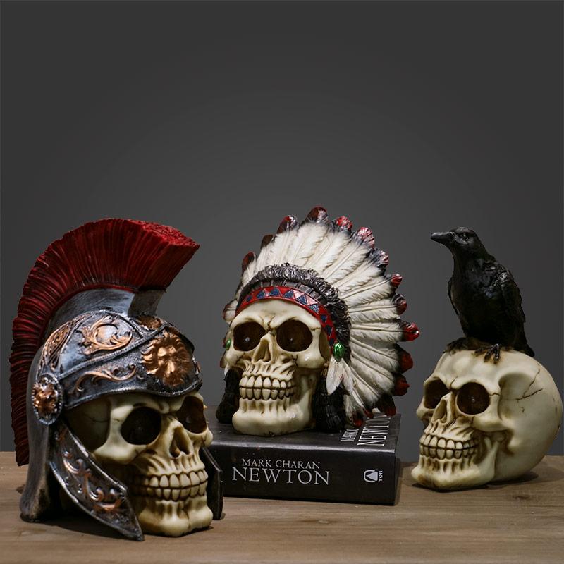 Resin Skulls Home Decor Statues For