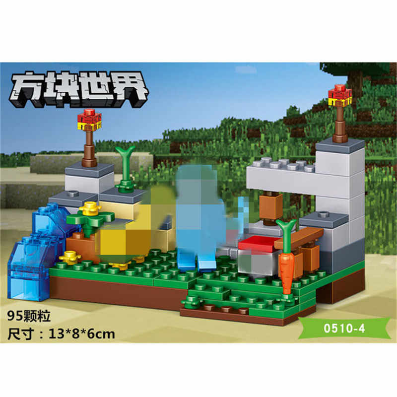 My World Building Blocks Village and garden DIY Brick  Educational kids Toys