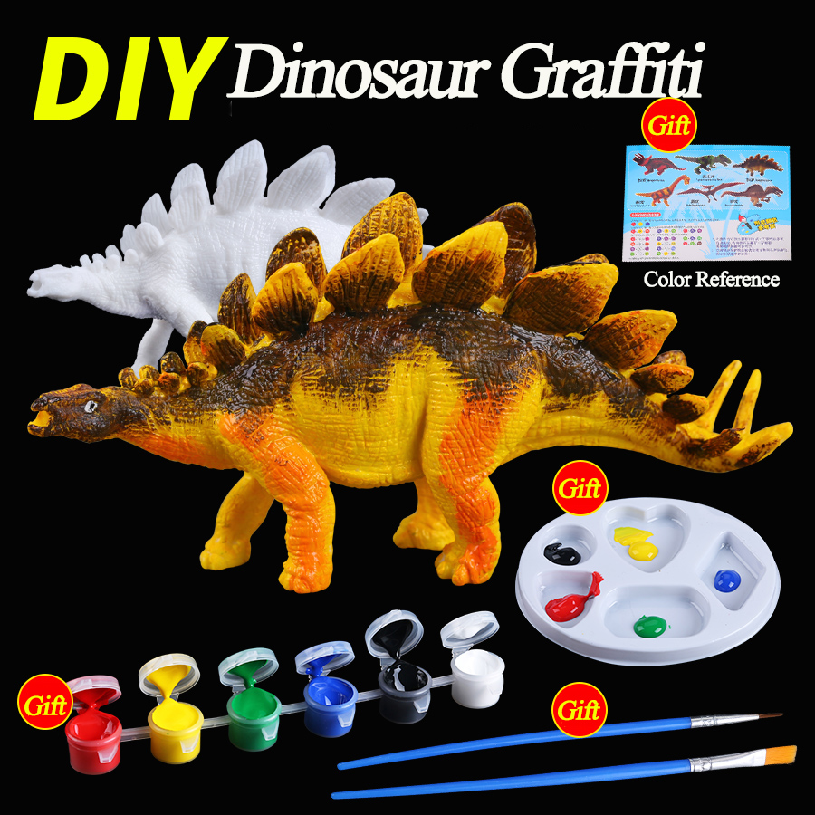US $4 99 DIY Mewarnai Lukisan Hewan Dinosaurus Model Menggambar Coretan Anak Anak Mainan Anak Anak Anak Anak Populer DIY Tangan Lukis Hadiah Hadiah