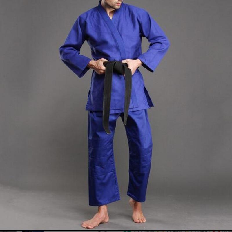 цены на Hot Sale New Pure Color Brazilian Jiu Jitsu Judo Men Costume Bjj Gi Set Kung Fu Clothing Wu Shu Uniforms Top Quality Men Roupas в интернет-магазинах