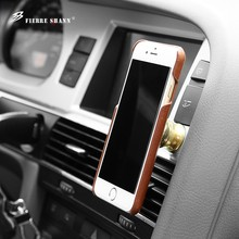 Натуральная кожа для IPhone X 8 7 6 6 S плюс Ретро Защитная крышка для Galaxy S8 S8 плюс с магнит автомобильный держатель телефона чехол