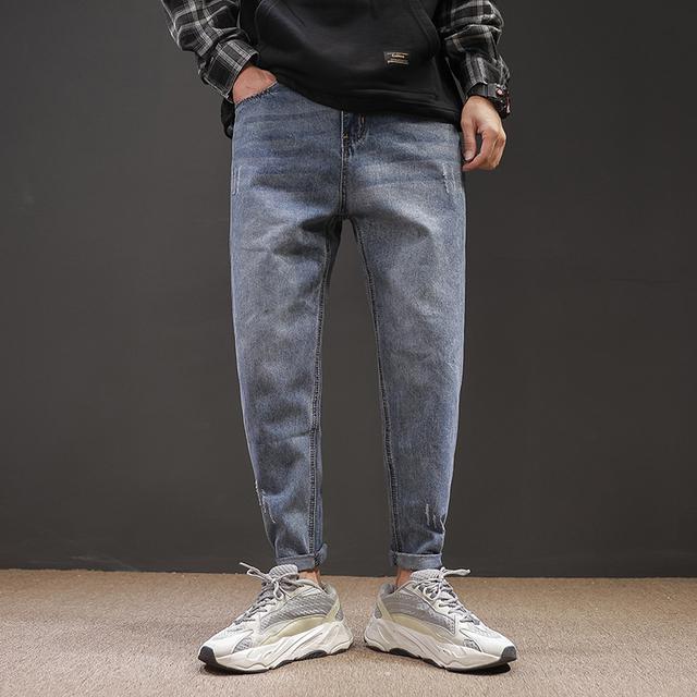Fashion Jean Harem Joggers Harajuku Sweatpant Hip Hop Casual Fashion Trousers Oversize M-5XL