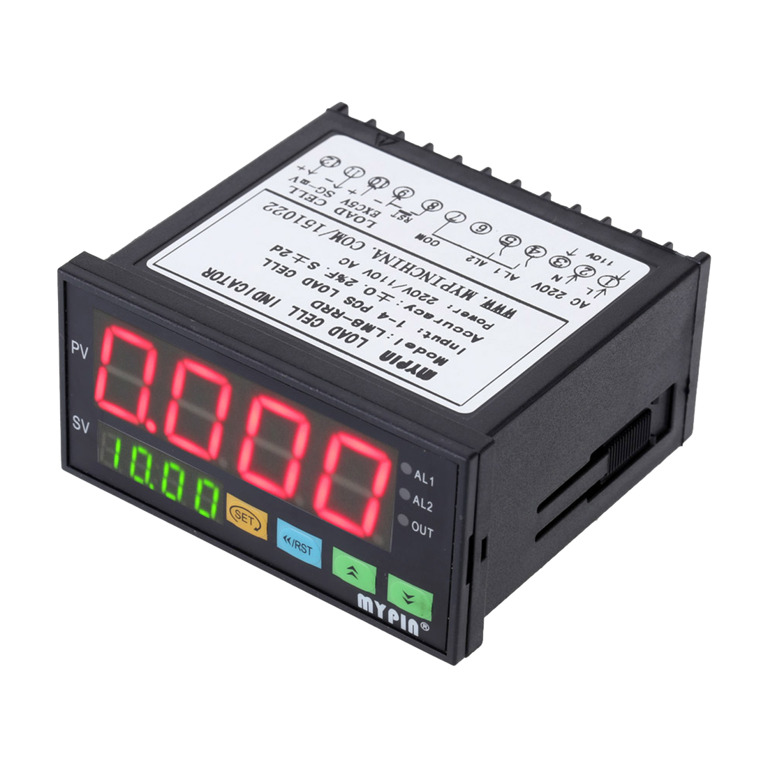New Style MYPIN Digital Weighing Controller Load-cells Indicator 2 Relay Output 4 Digits new arrival dc24v 4 relay load limiter controller sensor for elevator lift