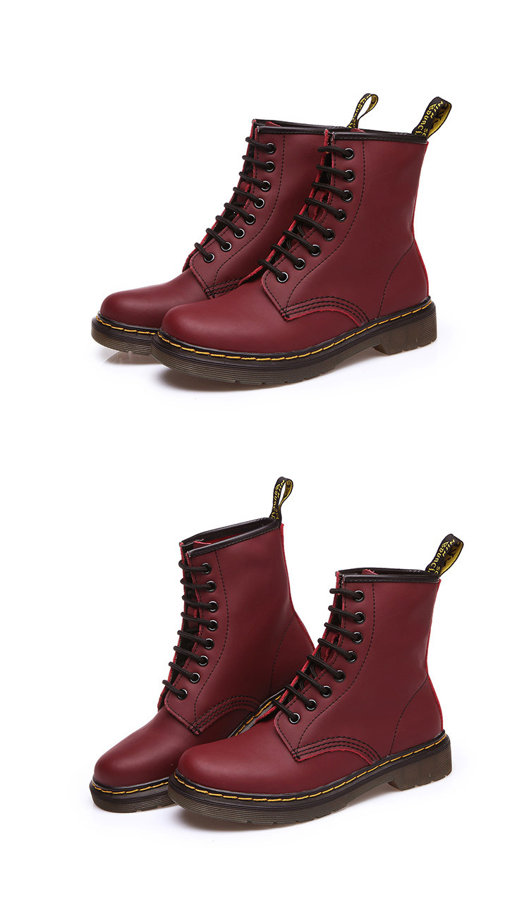 red punk boots for women