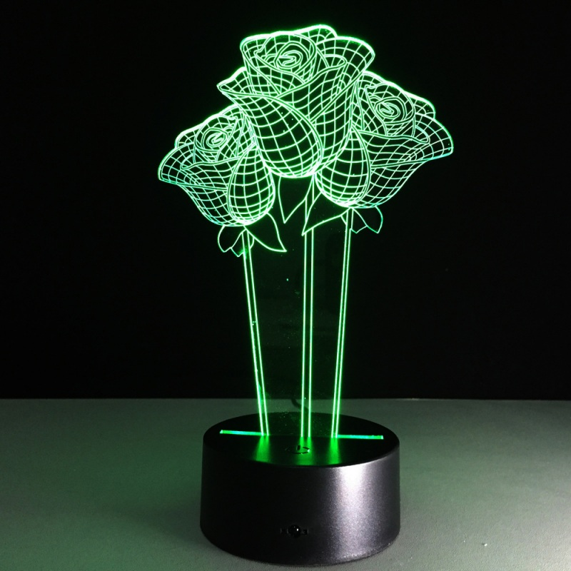 Touch Remote Control Colorful 3d Led Desk Lamp Novelty Gift For