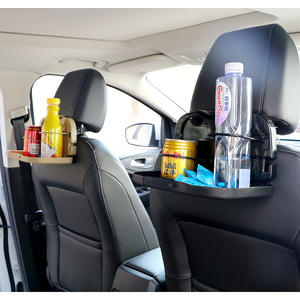 Car Cup Holder Back Seat Table Stand Desk Folding Auto Drink Food