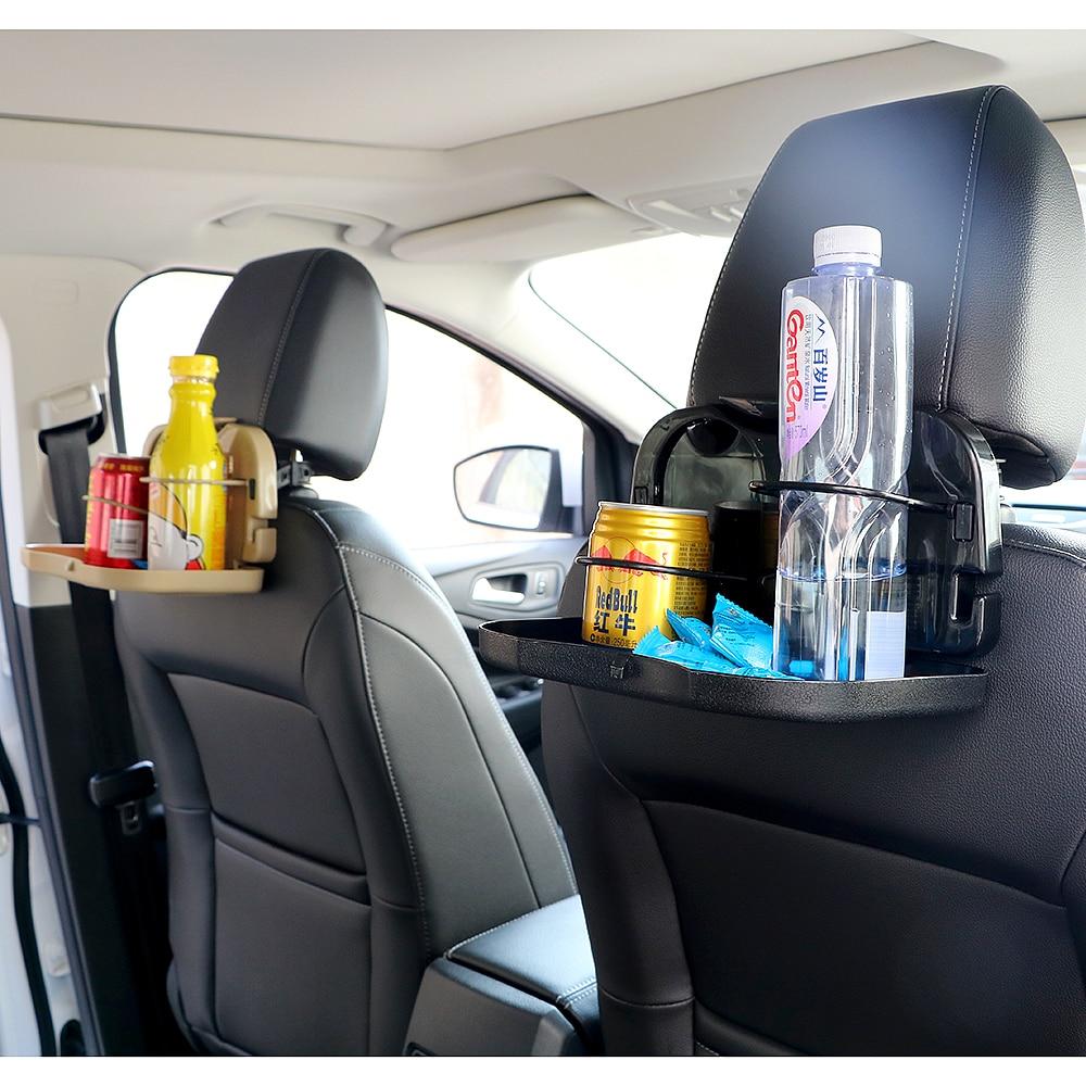 Porte-gobelet de voiture Vente Chaude Auto Boissons Coupe Alimentaire Plateau Stand De Support voiture de Bureau table pliante Voiture Retour Table des Sièges