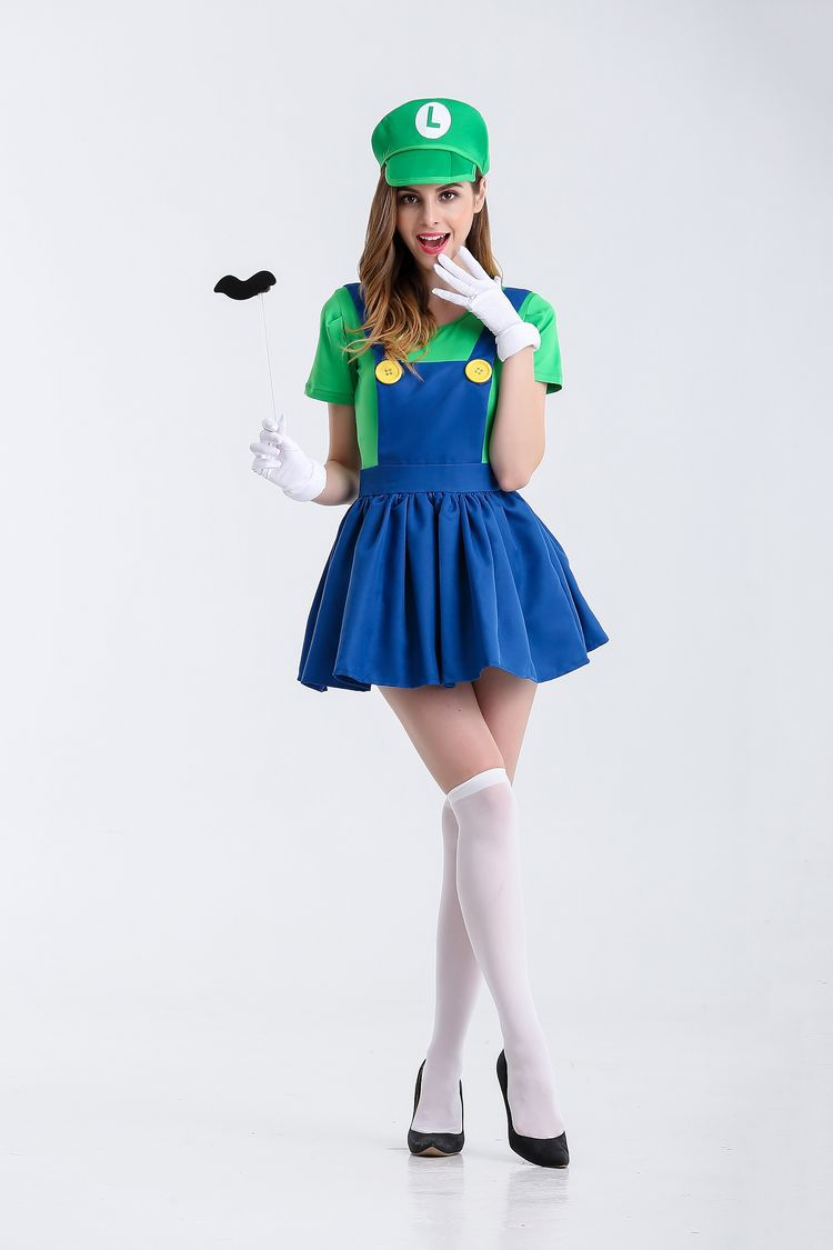 Halloween sexy anime cosplay Costumes Hot  Super Mariou bros figures lovey skirt Set  Party MARIO  Costume for women 2121