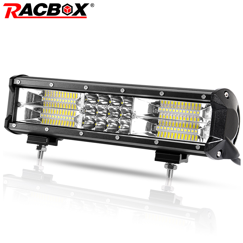Led Bar 180W 12 Inch Triple Row LED Work Light Bar Wide Flood Beam 12 24V Car Truck For Ford ATV 12 LED Driving Work Extra Lamp