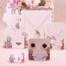 New Diy 100 pcs DIY earring card 34x34-50x9mm 1Pair Earring Card 120x45m Necklace Card/Hair Clip Card Custom Logo Cost Extra(China)