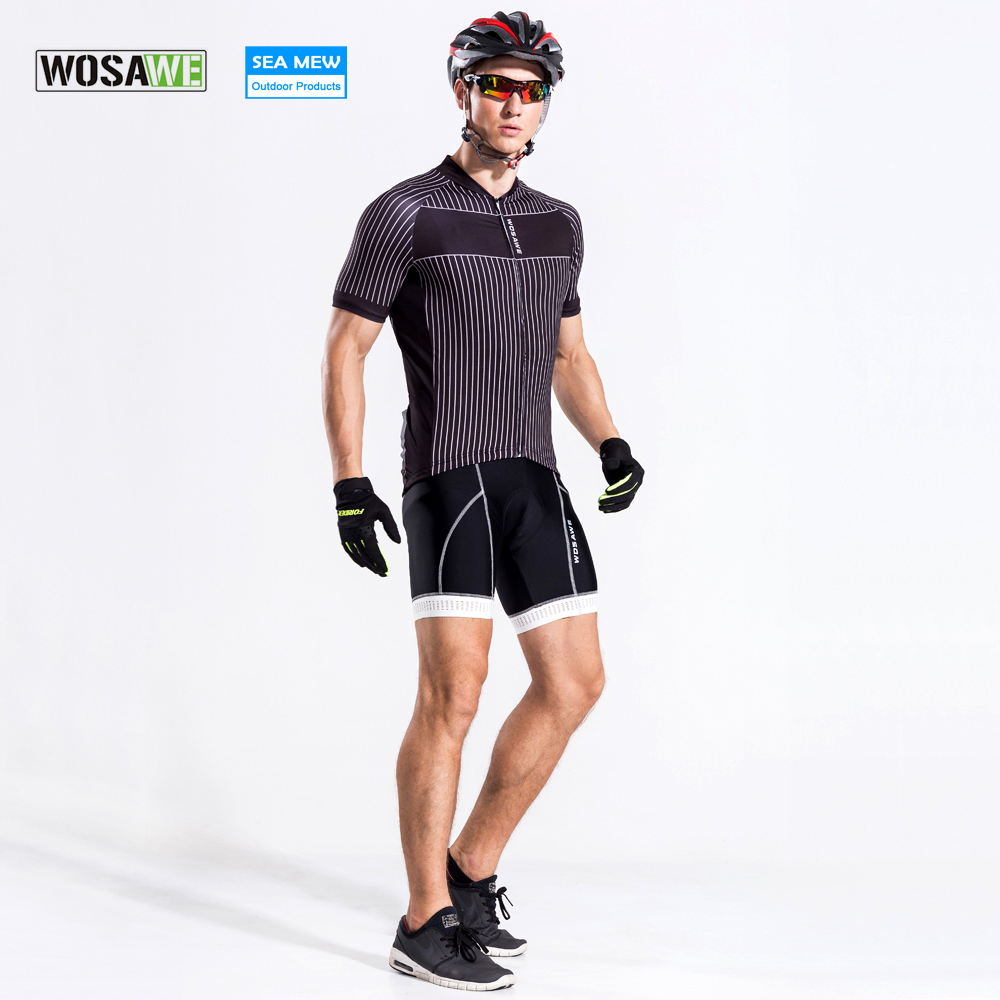 WOSAWE 2017 Cycling jersey Bib New ropa ciclismo hombre sport mtb bike clothes men cycling clothing maillot bicycle jerseys men thermal long sleeve cycling sets cycling jackets outdoor warm sport bicycle bike jersey clothes ropa ciclismo 4 size