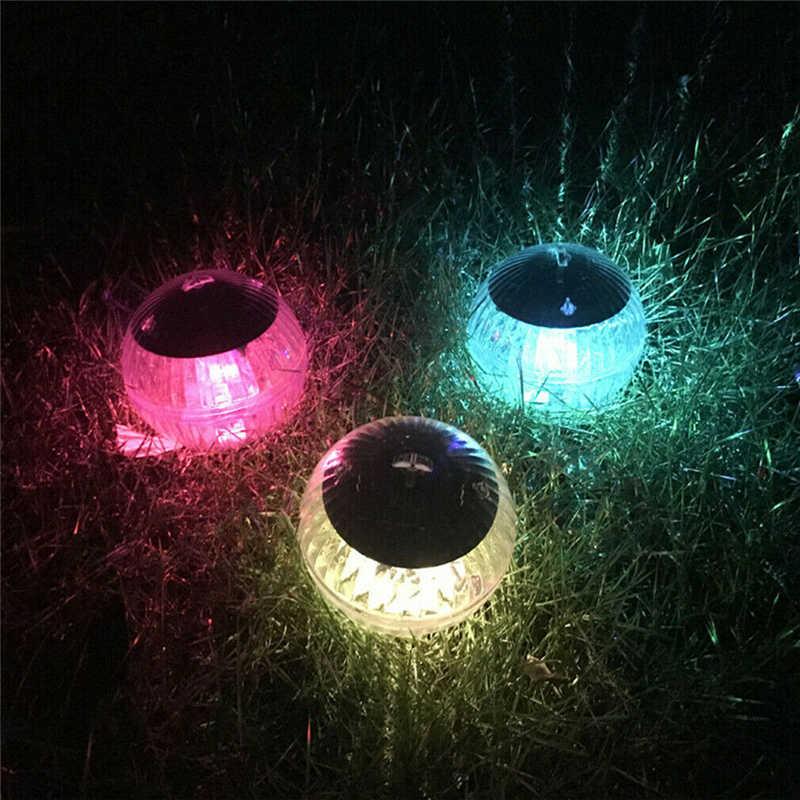 Солнечная Светодиодная лампа для сада, меняющая цвет двора, пруд, надувной коврик для бассейна, горячий новый солнечный плавающий свет для бассейна, домашний декор