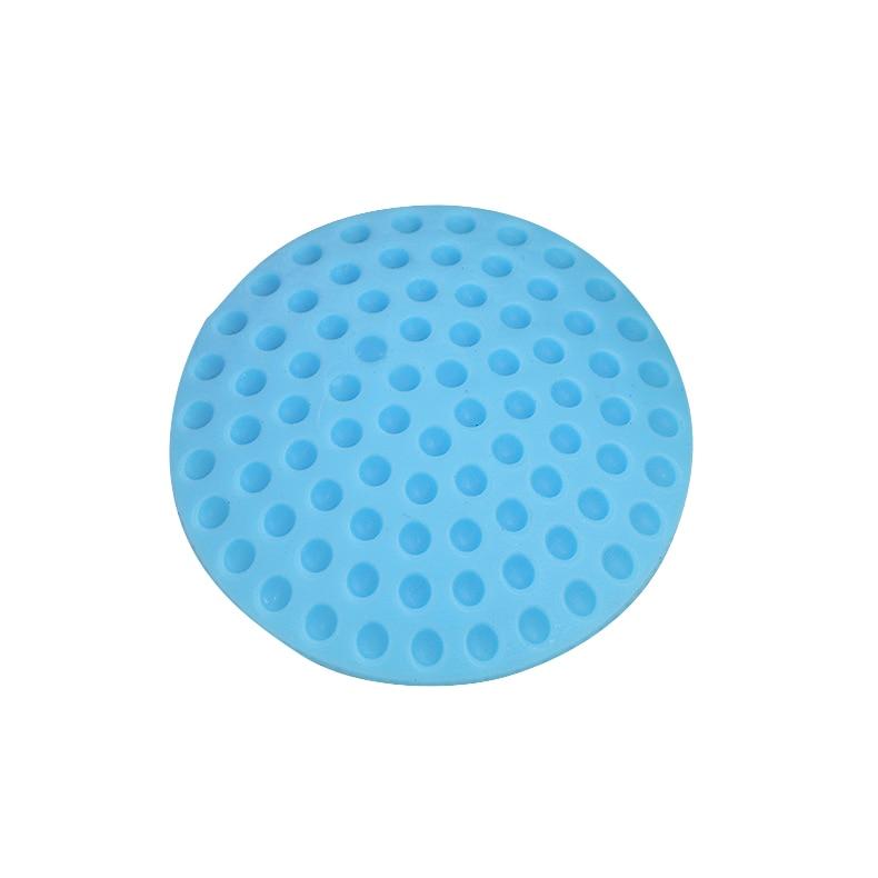 1 шт. настенные утолщенные бесшумные дверные Обвайзеры для гольфа, стильные резиновые Обвайзеры, ручки, дверной замок, защитная накладка, Защитная Наклейка на стену для дома - Цвет: blue