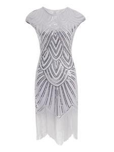 Image 2 - Womens Retro 1920s Beaded Sequined Leaf Art Deco Gatsby Flapper Dress