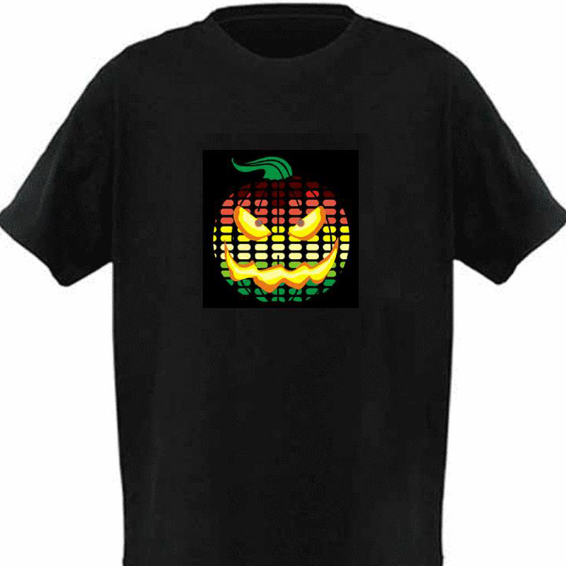 Halloween S Glowing El Sound Activated Led T Shirts Light
