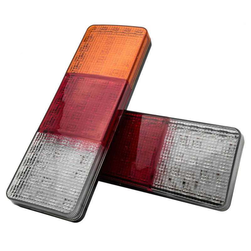 2pcs Turn Taillights Indicator 75 LED Rear Tail Lights Stop Truck Reverse Ute Trailer Caravan 12V/24V Brake Parking image