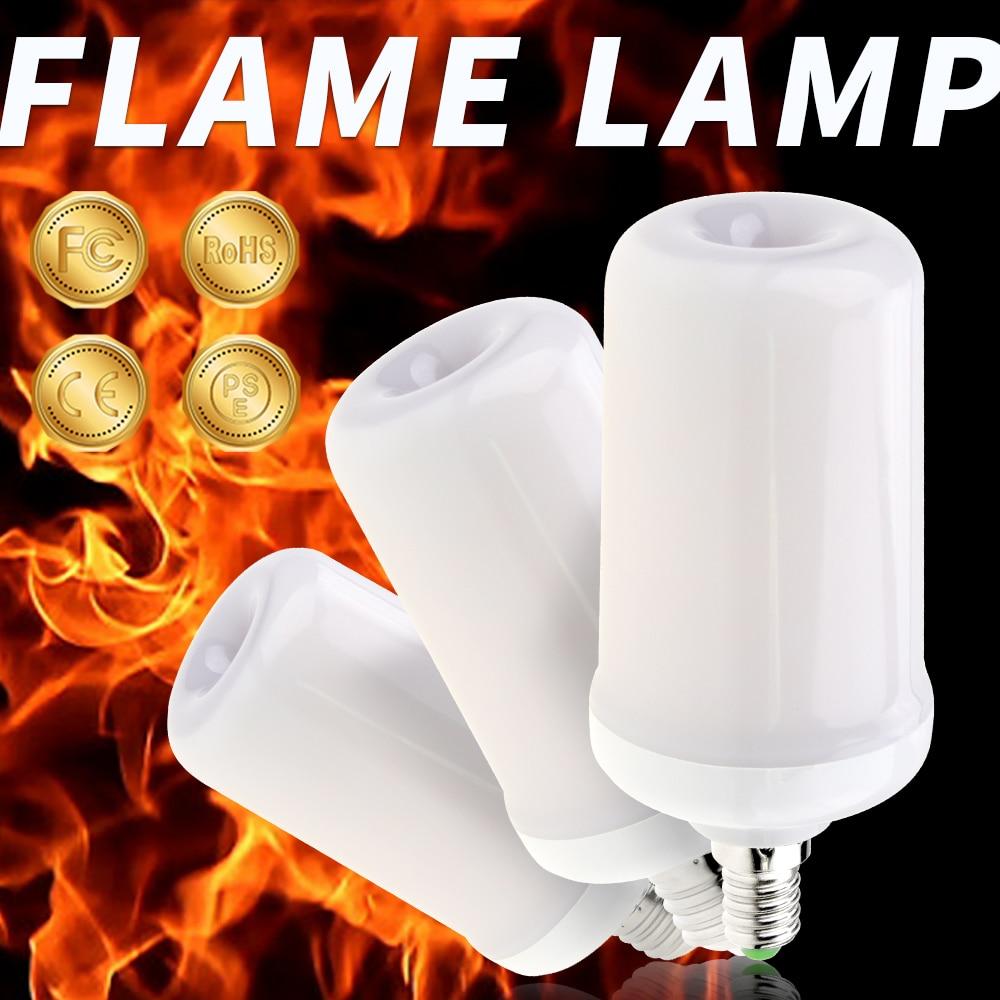 220V LED Flame Lamp E26 Creative LED Candle Light E27 Emulate Realistic Flame Effect Bulb 99leds E14 Christmas Halloween lights