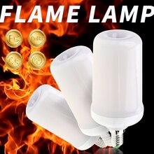 220V LED Flame Lamp E26 Creative Candle Light E27 Emulate Realistic Effect Bulb 99leds E14 Christmas Halloween lights